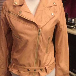 Jackets & Blazers - Faux leather jacket  NWOT